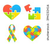 Autism Awareness Symbols Set....