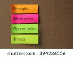 swot  strengths weaknesses... | Shutterstock . vector #394236556