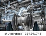 steam turbine of power... | Shutterstock . vector #394241746