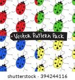 ladybird pattern pack of four.... | Shutterstock .eps vector #394244116