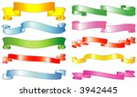 set of vector ribbons and... | Shutterstock .eps vector #3942445