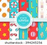 collection set of summer... | Shutterstock .eps vector #394245256
