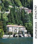 Villa Monastero at the lake Como. Italy - stock photo