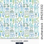 healthcare wallpaper. medical... | Shutterstock .eps vector #394251532