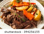 homemade slow cooker pot roast... | Shutterstock . vector #394256155