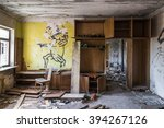 abandoned messy room with... | Shutterstock . vector #394267126