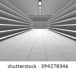 empty white supermarket shelf... | Shutterstock . vector #394278346
