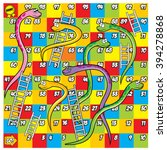 colorful snake and ladder game | Shutterstock .eps vector #394278868