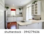 modern residential kitchen with ... | Shutterstock . vector #394279636