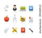 icon set   education. set of...