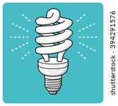 energy saving light bulb... | Shutterstock .eps vector #394291576