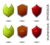set of shields icon for mobile...