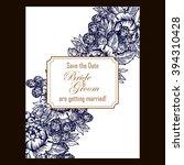 romantic invitation. wedding ... | Shutterstock . vector #394310428
