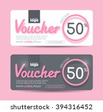 gift voucher template with... | Shutterstock .eps vector #394316452