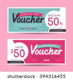 gift voucher template with... | Shutterstock .eps vector #394316455