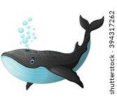 cute whale cartoon   Shutterstock .eps vector #394317262