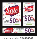 sale banners poster tag design. ... | Shutterstock .eps vector #394318342