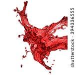 red juice splash closeup... | Shutterstock . vector #394336555