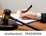 lawyew working. notary public... | Shutterstock . vector #394338406