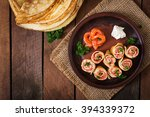 Appetizing Pancakes With Salmo...