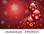 christmas background with... | Shutterstock . vector #39434014