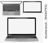 Vector  Realistic Silver Lapto...