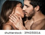 Stock photo close up portrait of a passionate young people in love 394350016