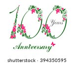 100 years anniversary. happy... | Shutterstock .eps vector #394350595