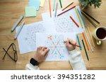hands of woman coloring... | Shutterstock . vector #394351282