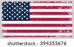 grunge usa flag.american flag... | Shutterstock .eps vector #394353676