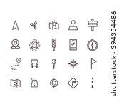 navigator icon set vector. | Shutterstock .eps vector #394354486