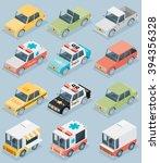set of the isometric cars | Shutterstock .eps vector #394356328