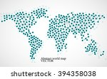 abstract world map. molecule... | Shutterstock .eps vector #394358038