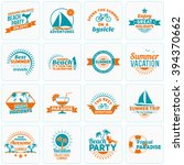 set of summer holidays design... | Shutterstock .eps vector #394370662