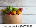 grocery shopping concept photo | Shutterstock . vector #394371052