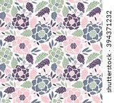 seamless floral pattern. vector ... | Shutterstock .eps vector #394371232