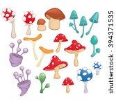 set of vector cartoon... | Shutterstock .eps vector #394371535