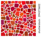 colorful vector mosaic... | Shutterstock .eps vector #394373602