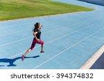 runner sprinting towards...   Shutterstock . vector #394374832