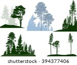 illustration with trees... | Shutterstock .eps vector #394377406