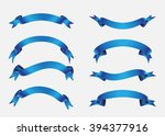 ribbon set.ribbon banner vector ... | Shutterstock .eps vector #394377916