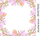 floral template for romantic ...   Shutterstock .eps vector #394379032