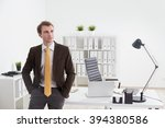 Young Businessman With Hands I...