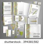 corporate identity template... | Shutterstock .eps vector #394381582