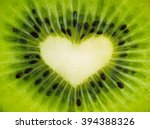 Green Fruit Kiwi Close Up With...