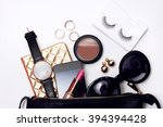 view from above of woman... | Shutterstock . vector #394394428