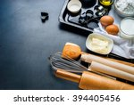 preparation baking accessories... | Shutterstock . vector #394405456