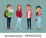 vector set of students with... | Shutterstock .eps vector #394423102