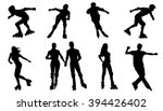 Rollerskating Silhouettes On...