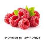 raspberry with leaves | Shutterstock . vector #394429825